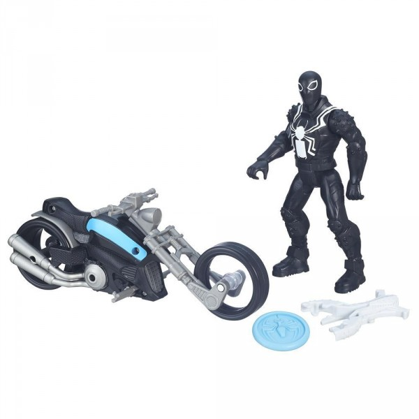 Figurine ultimate spiderman agent venom avec moto jeux - Jeux spiderman moto ...