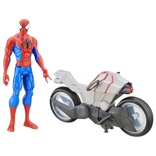 Figurine Ultimate Spiderman Vs Sinister Six - Spiderman et moto à répulsion - Hasbro-B5790-B6608
