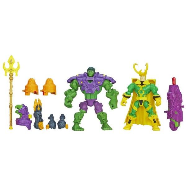 Figurines Marvel Super Hero Mashers : Hulk contre Loki - Hasbro-A8159-A8897