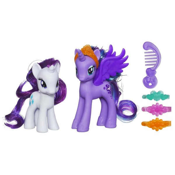 Figurines Mon Petit Poney : Princesse et Poney : Princesse Luna et Rarity - Hasbro-A2004-A2655