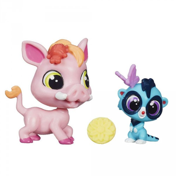 Figurines Petshop : Figurines à personnaliser : Warren Plainley et Mira Surrey - Hasbro-A7313-B1736