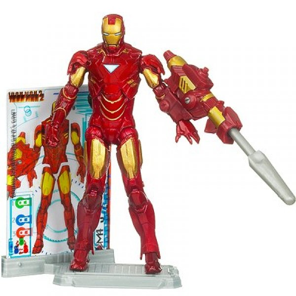 Iron Man Movie 2 - Iron Man  Mark VI : Armure avec triangle - Hasbro-93763-94175