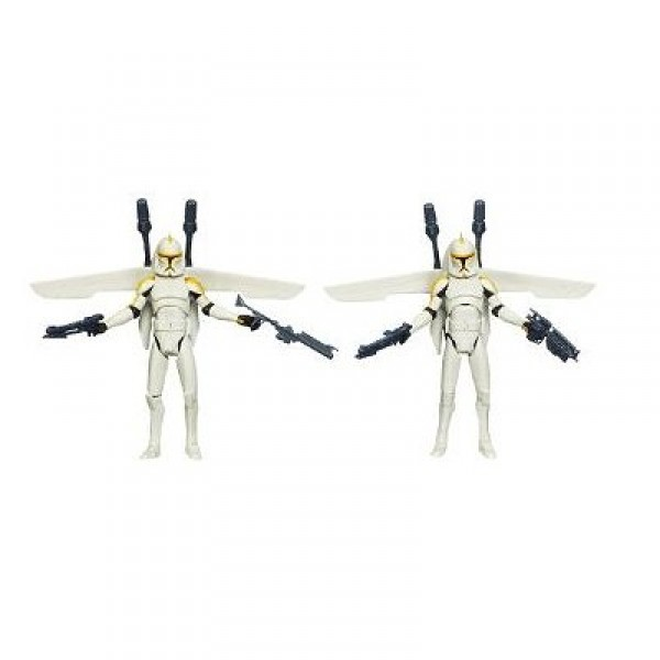 Star Wars - The Clone Wars : 212th Battalion Clone Troopers and Jet Backpacks - Hasbro-91369-91349P