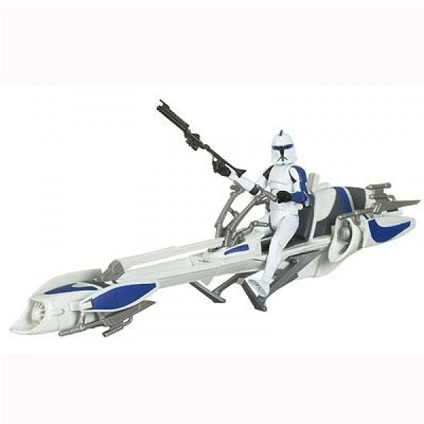 Star Wars - The Clone Wars : Clone Trooper and BARC Speeder Bike - Hasbro-91361-91349P