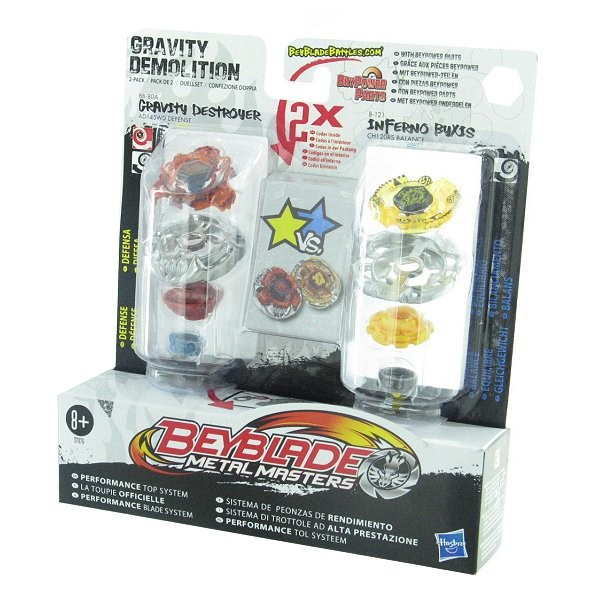 Toupies Beyblade Metal Masters : Duel Gravity Destroyer et Inferno Byxis - Hasbro-19510-37076