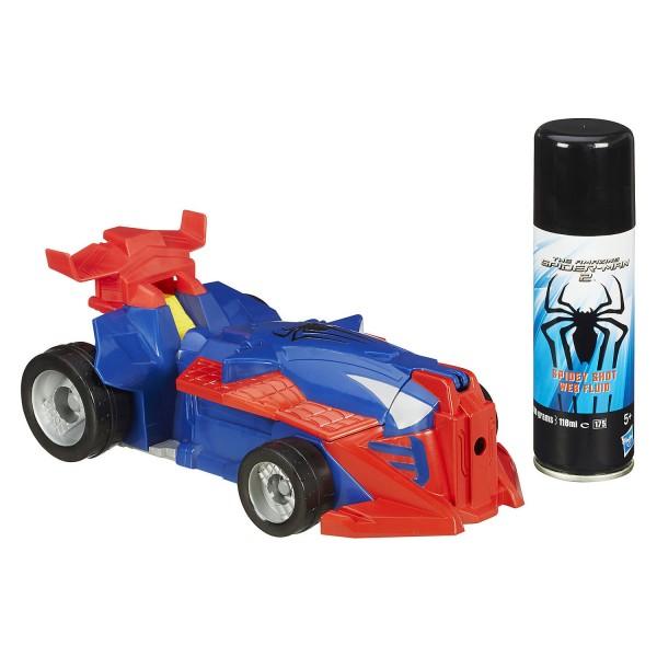 Voiture de course lance toile spiderman jeux et jouets hasbro avenue des jeux - Spiderman voiture ...