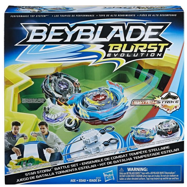 set de combat toupie beyblade burst evolution ar ne temp te de cristal jeux et jouets hasbro. Black Bedroom Furniture Sets. Home Design Ideas