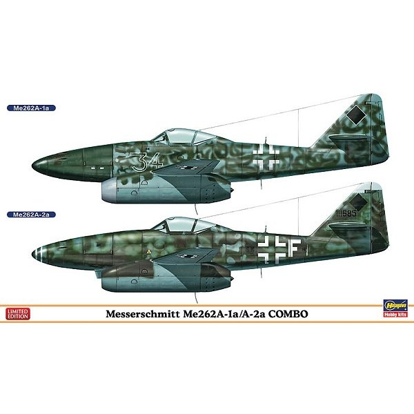 Maquette avion : ME262A-1A/A-2A Combo Limited Edition - Hasegawa-01915