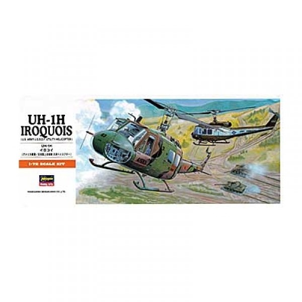 Maquette hélicoptère : UH-1H Iroquois - Hasegawa-00141