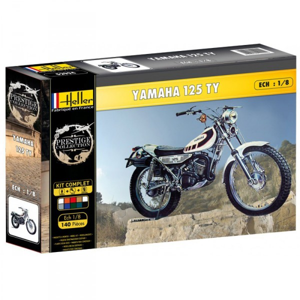 Maquette Moto : Kit complet : Yamaha TY 125 - Heller-52994