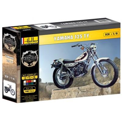 maquette moto kit complet yamaha ty 125 heller rue des maquettes. Black Bedroom Furniture Sets. Home Design Ideas