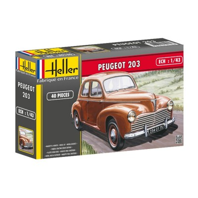 maquette voiture peugeot 203 heller rue des maquettes. Black Bedroom Furniture Sets. Home Design Ideas