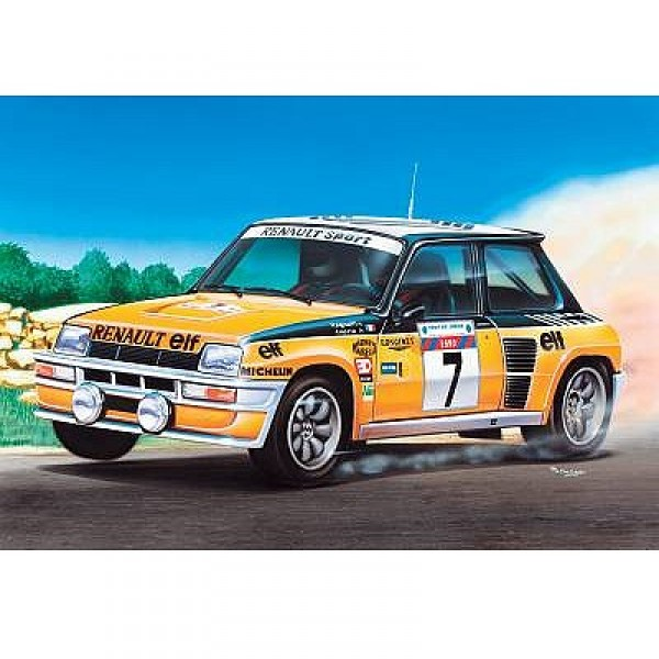 Maquette voiture : Renault 5 Turbo orange - Heller-80717