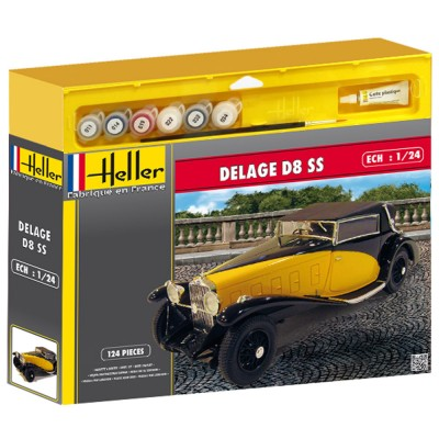 maquette voiture kit complet delage d8 ss heller rue des maquettes. Black Bedroom Furniture Sets. Home Design Ideas
