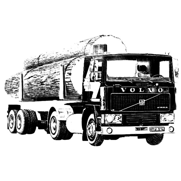 Maquette camion : Volvo F12-20 & Timber semi trailer - Heller-81704