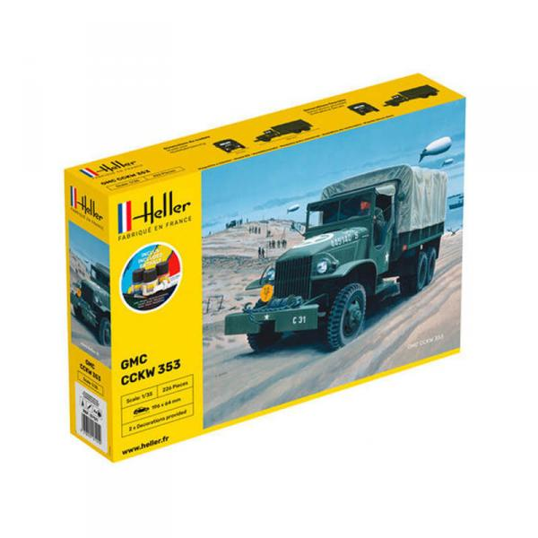 Maquette véhicule militaire : Starter kit : GMC US-Truck - Heller-57121