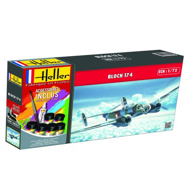 Maquette avion : Kit complet : Bloch 174 A3 - Heller-56312