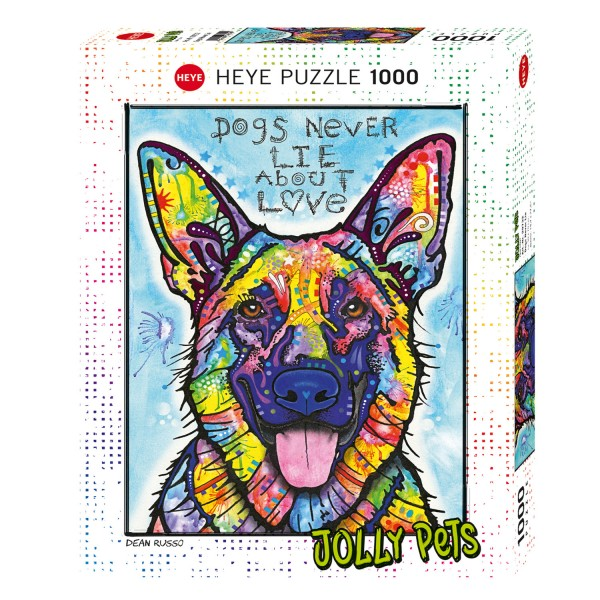 Puzzle 1000 pièces : Dogs Never Lie About Love - Heye-58250