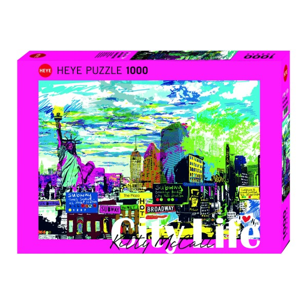 Puzzle 1000 pièces : I love New York - Heye-29681-58317