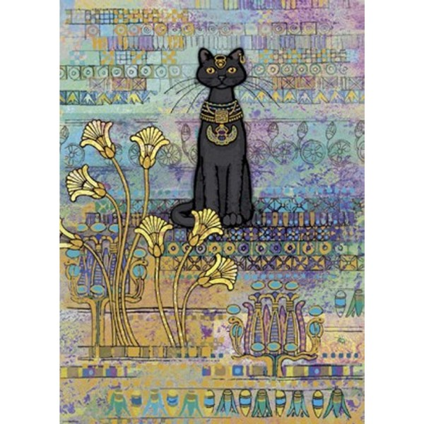 Puzzle 1000 pièces Jane Crowther : Chat égyptien - Heye-29536-58245