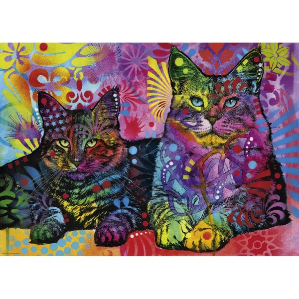 Puzzle 1000 pièces : Devoted 2 cats - Heye-29864