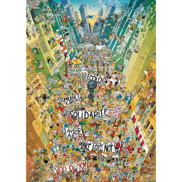 Puzzle 1000 pièces : Cartoon Protest - Heye-29820