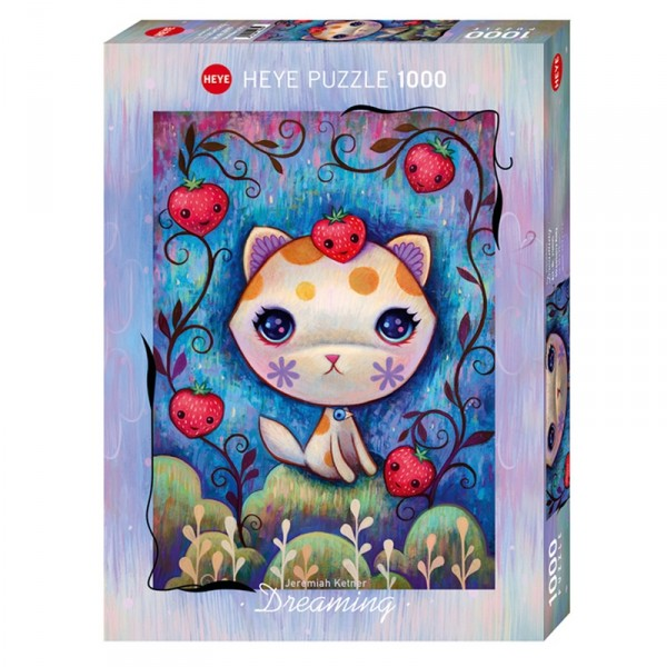 Puzzle 1000 Pièces : Strawberry Kitty - Heye-58607