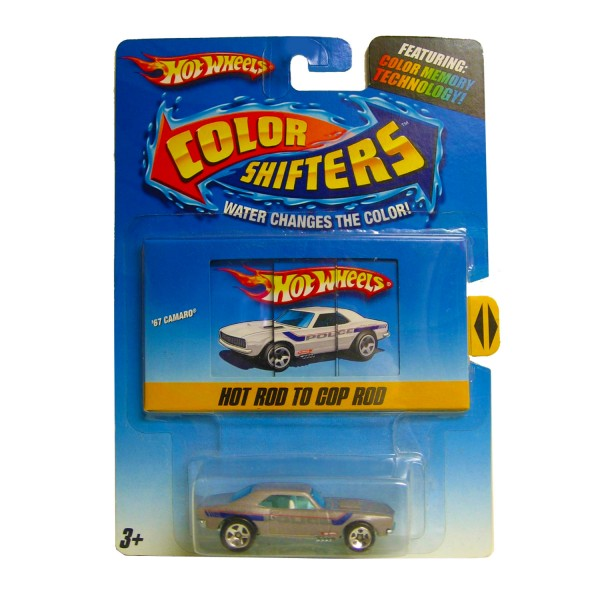 Petite voiture : Hot Wheels Color Shifters : 67 Camaro Police - Mattel-N4220-R1136