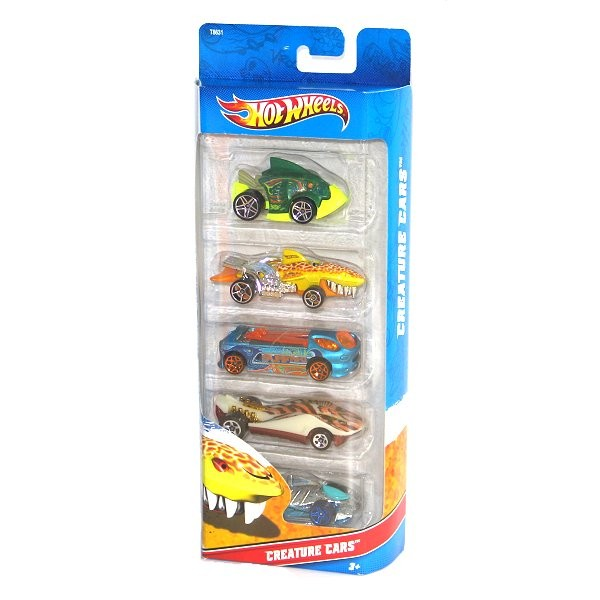 Voitures Hot Wheels Set de 5 voitures : Coffret Creature Cars - Mattel-1806-T8631