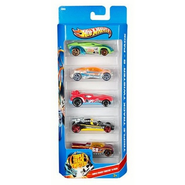 Voitures Hot Wheels : Coffret 5 voitures : Triple track twister 5 - Mattel-1806-X9855