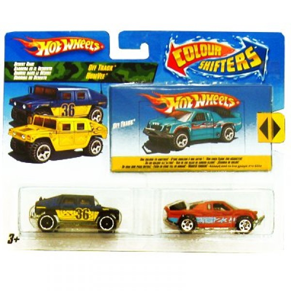 Voitures Hot Wheels - Coffret de 2 voitures Color Shifter : Desert Race - Mattel-N4439-P2876