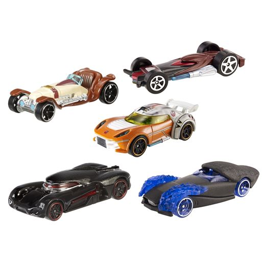 voitures hot wheels star wars coffret 5 v hicules c t lumineux contre c t obscur jeux et. Black Bedroom Furniture Sets. Home Design Ideas