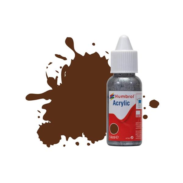Peinture N°160 Rouge Camouflage Allemand  - Mat  : Acrylique : 14 ml - Humbrol-DB0160