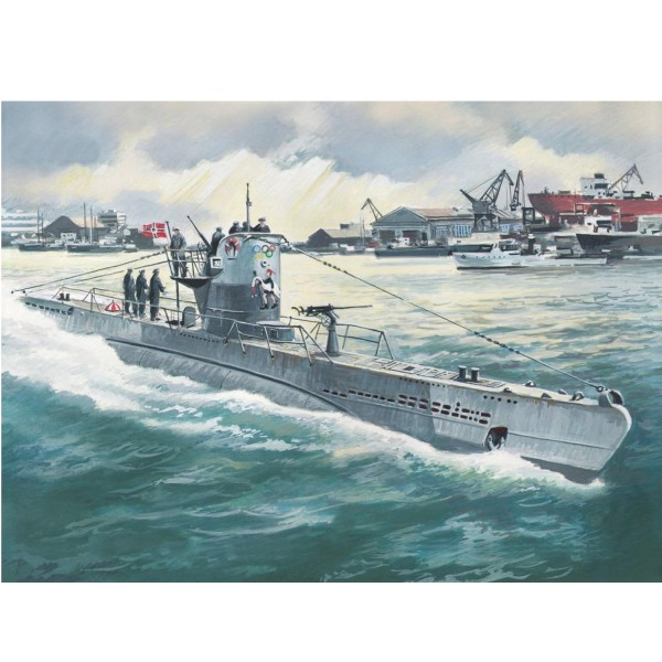 Maquette sous-marin allemand : U-Boat type IIB 1943 - ICM-S010