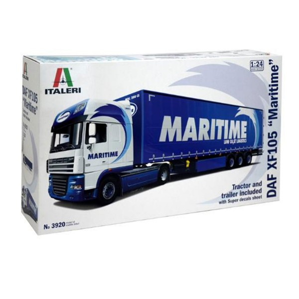 Maquette camion : DAF XF105 with MARITIME Trailer - Italeri-3920