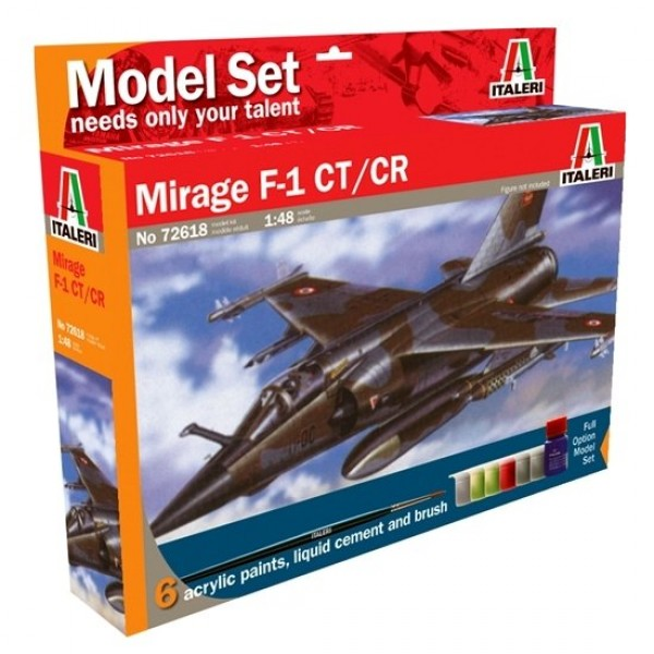Maquette avion : Model Set : Mirage F-1 CT/CR - Italeri-72618
