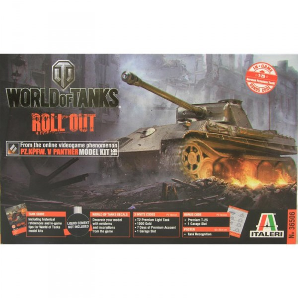 Maquette char : Panther World of Tanks - Italeri-36506
