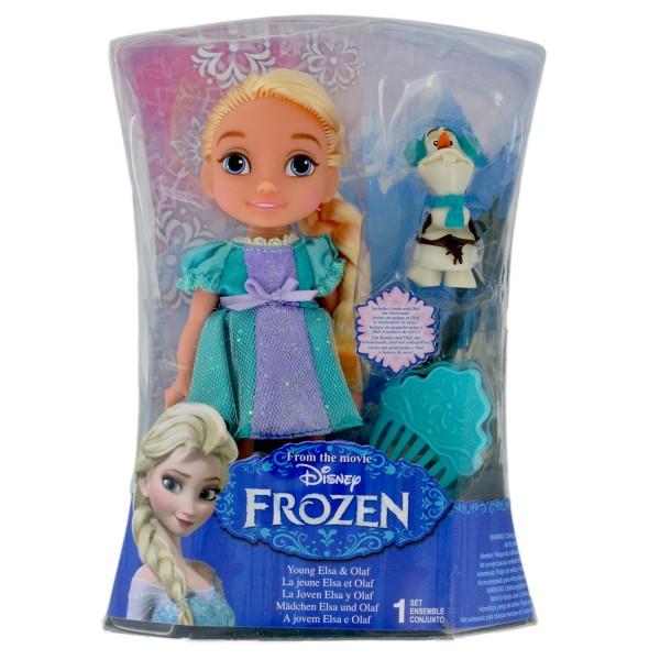 poup e la reine des neiges frozen 17 cm la jeune elsa et olaf jeux et jouets jakks pacific. Black Bedroom Furniture Sets. Home Design Ideas