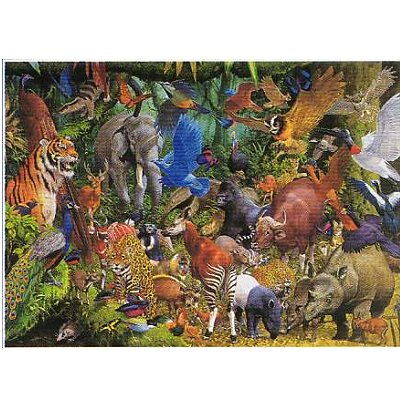 Puzzle 1000 pi ces m li m lo animaux de la jungle puzzle james hamilton rue des puzzles - Tapis animaux de la jungle ...