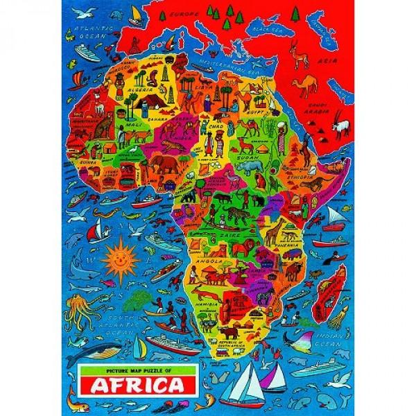 Carte De Lafrique Quiz.Puzzle 500 Pieces Carte Du Monde L Afrique