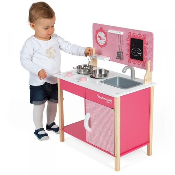cuisini re en bois mini cuisine mademoiselle jeux et jouets janod avenue des jeux. Black Bedroom Furniture Sets. Home Design Ideas