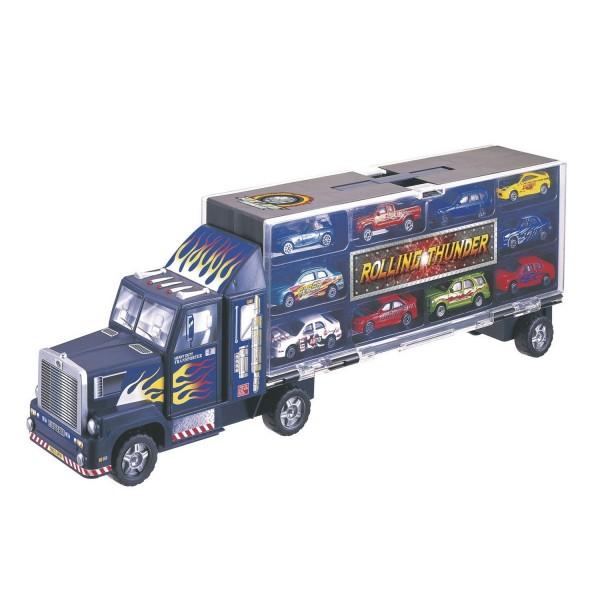 camion transporteur et 10 voitures jeux et jouets john world avenue des jeux. Black Bedroom Furniture Sets. Home Design Ideas