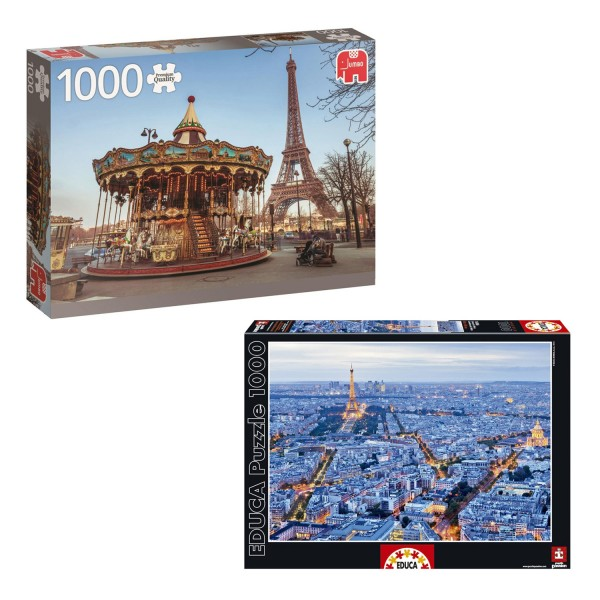 Pack 2 puzzles 1000 pièces : Paris, France - KIT00108
