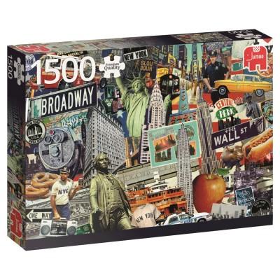 puzzle 1500 pi ces p le m le de la ville de new york puzzle jumbo rue des puzzles. Black Bedroom Furniture Sets. Home Design Ideas