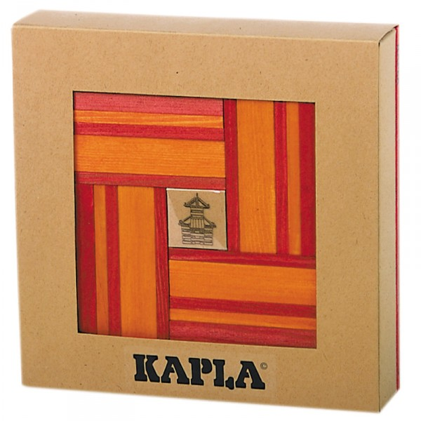 Kapla 40 planchettes - Rouge / orange - Kapla-CR