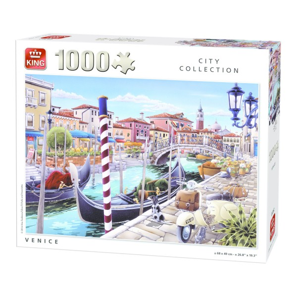 Puzzle 1000 pièces City Collection : Venise - King-58194