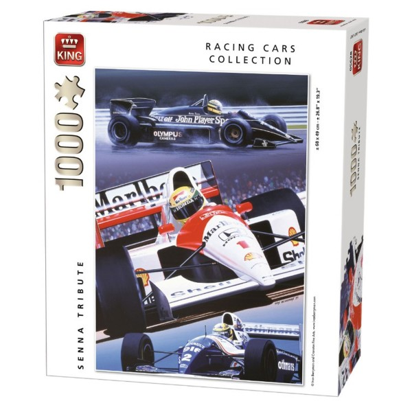 Puzzle 1000 pièces Racing Cars Collection : Hommage Ayrton Senna - King-58281