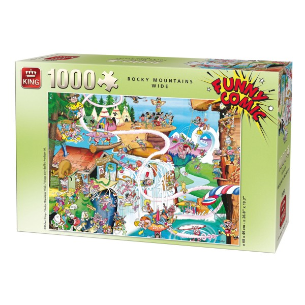 Puzzle 1000 pièces : Funny Comic : Rocky Mountains Wide - King-58366