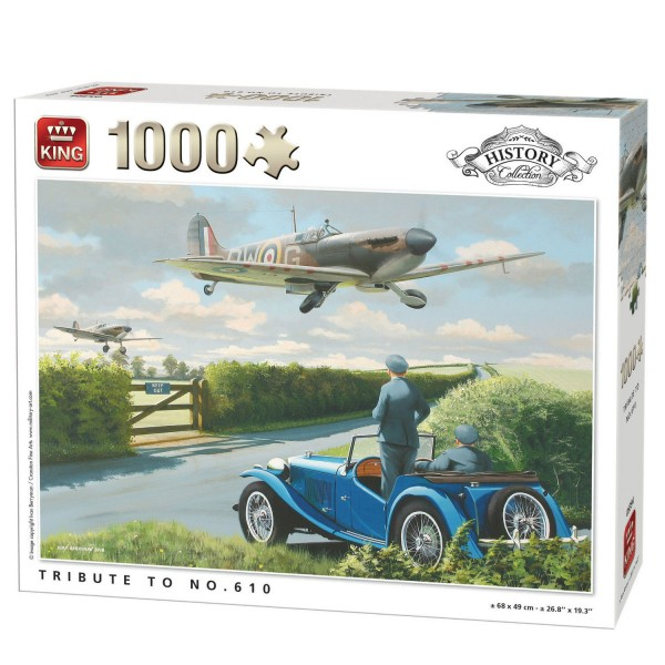 Puzzle 1000 pièces History Collection : Tribute to No.610 - King-100229
