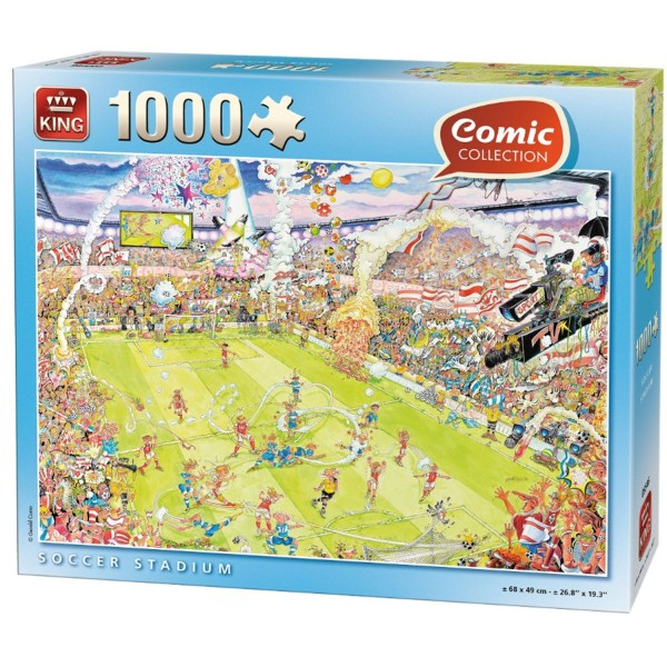 Puzzle 1000 pièces Comic Collection : Match de football - King-100244